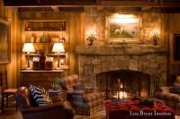 Adirondack Lake House - Rustic - Living Room - other metro ...