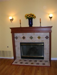 Fireplace with mexican inspired accents in San Jose, CA ...