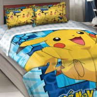 Pokemon Twin-Full Comforter Set Big Pikachu Bedding ...