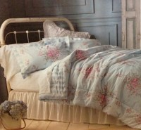 Shabby Chic Full-Queen Comforter Set Pink Roses Bedding ...