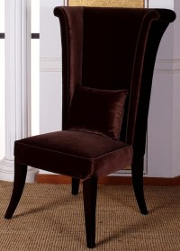 Mad Hatter Tall Wing Back Velvet Dining Chair ...