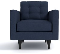 The Logan Chair, Navy - Midcentury - Armchairs And Accent ...