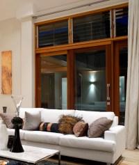 Cedar Sliding Door and Louvers - Modern - Living Room ...