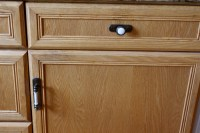 using cup pulls on cabinet doors