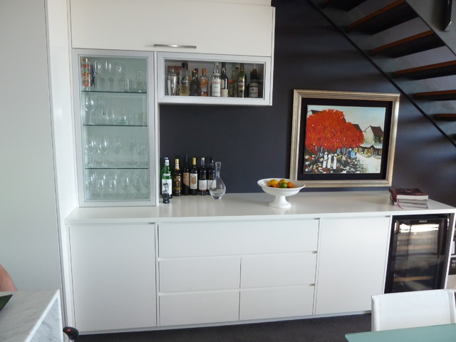 Understairs Home Bar  Contemporary  Living Room  sydney