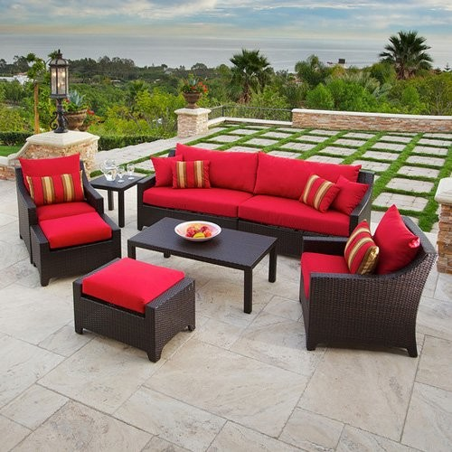 outdoor conversation sets patio furniture RST Outdoor Cantina All Weather Wicker Conversation Set - Contemporary - Patio Furniture And