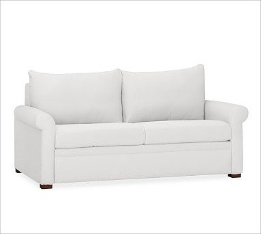 pottery barn deluxe sleeper sofa reviews to bunk bed usa pb sofa, box cushion, washed linen/cotton ...
