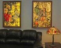 Backlit Gemstone Art Nouveau Wall Art with a Gemstone ...