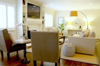 Seating Arrangement in Luxe Living Room - Transitional ...