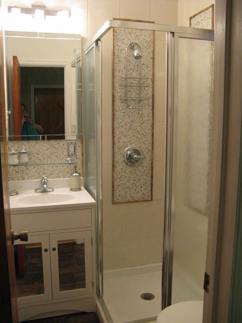 34 Bath Created from Powder Room  Contemporary
