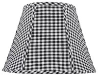 Black and White Check Lamp Shade 8x14x11 (Spider ...