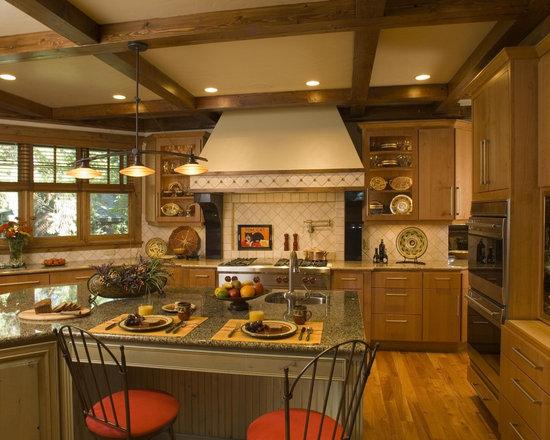 Rustic Coffered Ceiling Home Design, Photos & Decor Ideas