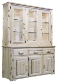 Montana Woodworks China Hutch in Clear Lacquer - Rustic ...