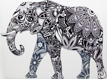 Tribal Elephant Canvas Print - Modern - Prints And Posters ...