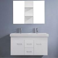 Virtu USA Opal 48-inch White Double Sink Vanity Set ...