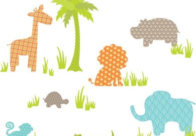 Jungle Silhouettes Wall Decal Contemporary Wall Decals