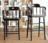 Captain's Swivel Barstool - Pottery Barn - Transitional ...