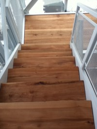 SOLID WOOD STAIRS LIVE EDGE STAIR TREADS - Contemporary ...