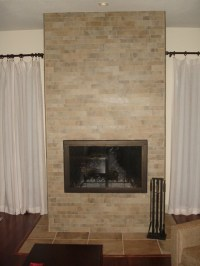 Fireplace - Porcelain Stacked Tile - Traditional - Living ...