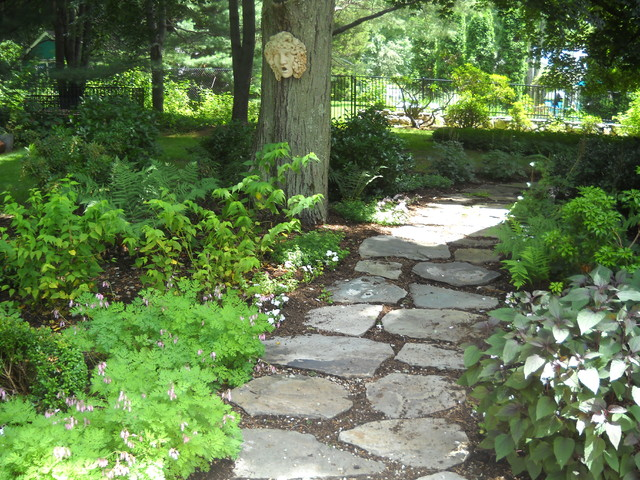 Fire Pit Landscaping Ideas Creative New Home Design Fire Pit A Natural Stepping Stone Path In A Shade Garden - Rustic