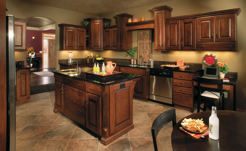 Paint colors for kitchens with dark cabinets home living for Kitchen paint colors with dark maple cabinets