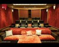 Media Room with Cineak Intimo Seats - Contemporary - Home ...