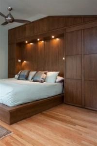 Bedwall with Built-in cabinet surround & hidden door ...