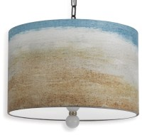 Painted Seaside Beach Style Landscape Drum Pendant Light ...