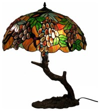 Tiffany-style Oval Grape Bronze Lamp - Traditional - Table ...