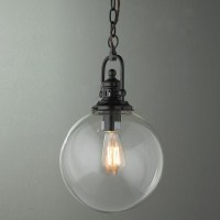 Clear Glass Globe Industrial Pendant 2 finishes! - Pendant ...