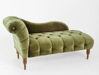 Edie Velvet Chaise, Green - Traditional - Indoor Chaise ...