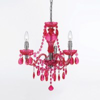 Fulton Hot Pink Chandelier By Angelo Home - Eclectic ...