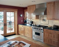 Kitchen with french doors to deck - Traditional - Kitchen ...
