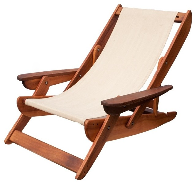 Salvage Cedar Sling Back Chairs  Beach Style  Outdoor