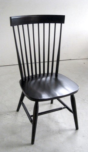 Duxbury Dining Side Chair in Black  Farmhouse  Dining Chairs  boston  by ECustomFinishes