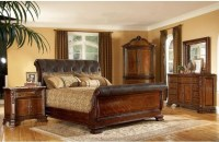 ART Furniture - 5-piece Old World Leather King-size Sleigh ...