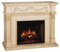 Gossamer Electric Fireplace in Antique Ivory