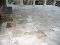 Da Vinci Travertine Tile - Traditional - Porch ...