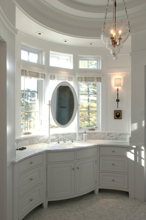 Bathroom Mirror In Front Of Window bathroom mirrors in front of windows - bathroom design