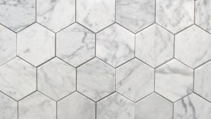"Bianco Carrara 3"" Polished Hexagon MarbleTiles"