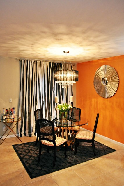 Vintage Glam Living and Dining Room  Eclectic  Dining