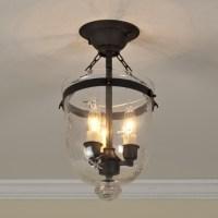 Mini Smokebell Semi-Flush Ceiling Lantern (4 finishes ...
