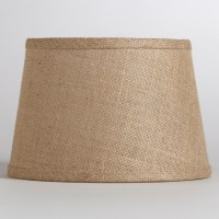 Natural Burlap Accent Lamp Shade - Rustic - Table Lamps ...