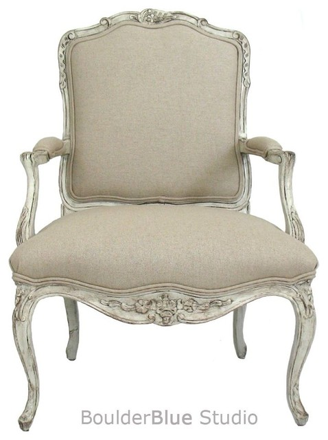French Style Chair  Traditional  Armchairs And Accent