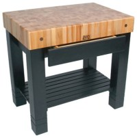 American Heritage Homestead Prep Table with Butcher Block ...