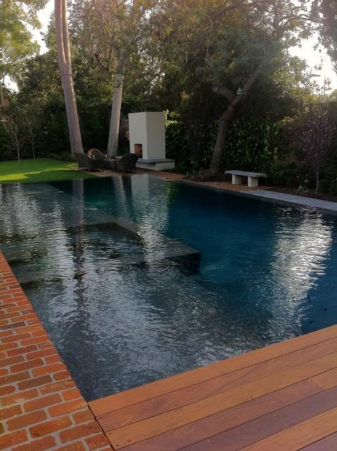 Ocean Blue Pebble Sheen  Contemporary  Pool  los angeles  by M Preciado Pool Plastering