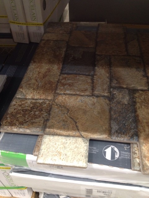 Carmen Brown Floor tile Found Lowes