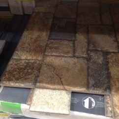 Lowes Outdoor Kitchens Prefabricated Kitchen Cabinets Carmen Brown Floor Tile. Found @lowes
