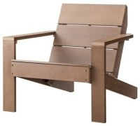 Threshold Bryant Faux Wood Patio Adirondack Chair, Brown ...