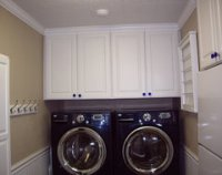 Where did you find cabinets that are as deep as the washer ...